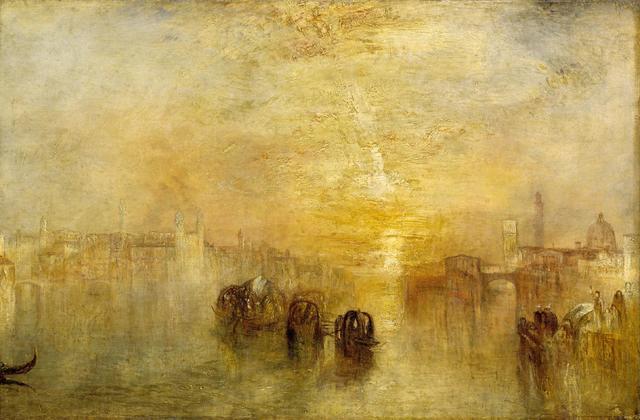Lever de soleil avec monstres marins - William Turner