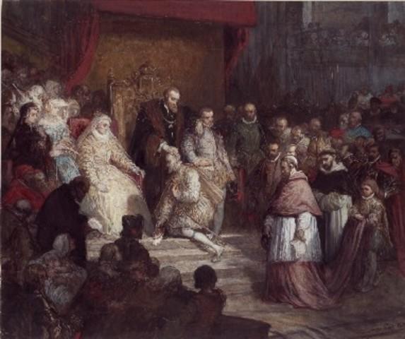 Abdication de Charles Quint à Bruxelles