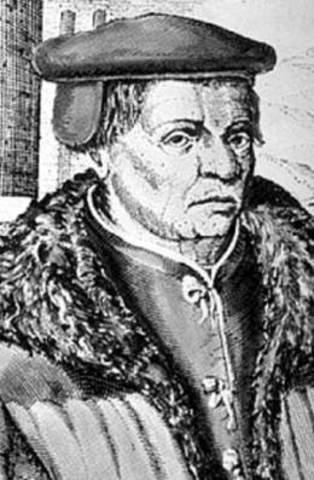 Thomas Müntzer tout d'abord pasteur luthérien rompt avec Luther alors qu'il réside à Prague.