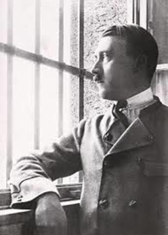 Emprisonnement d'Hitler, rédaction de Mein Kampf
