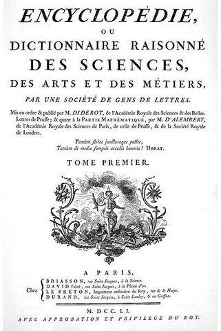 DENIS DIDEROT y JEAN-BAPTISTE LE ROND D'ALEMBERT: La enciclopedia