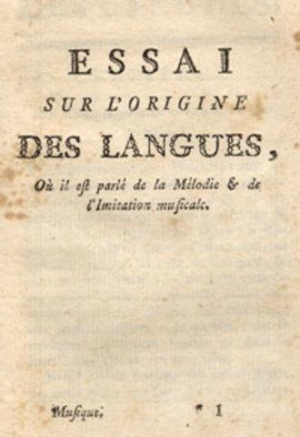 JEAN-JACQUES ROUSSEAU: Essai sur l'origine des langues
