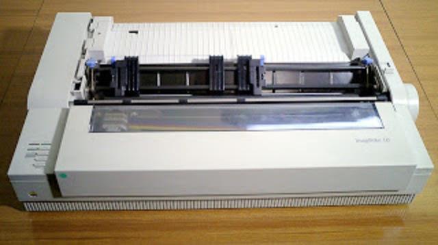 La primera impresora matricial