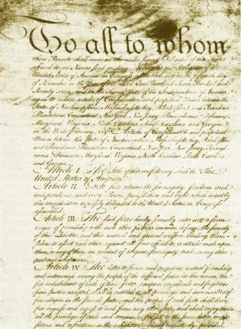 Articles of Confederation Aopted