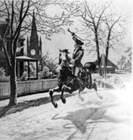 "Paul Rever and William Dawes ""Midnigt Rides"""