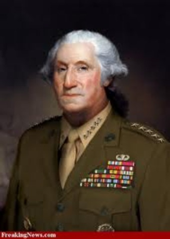 Washington named Commander and Chief of the Continental Army and Navy