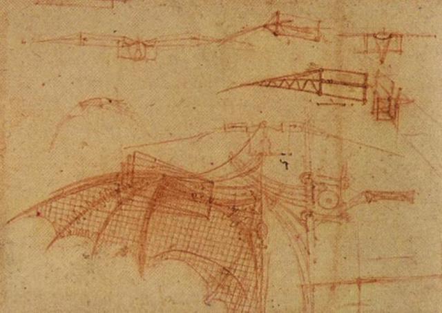 Leonardo Design for a Flying Machine, 1505