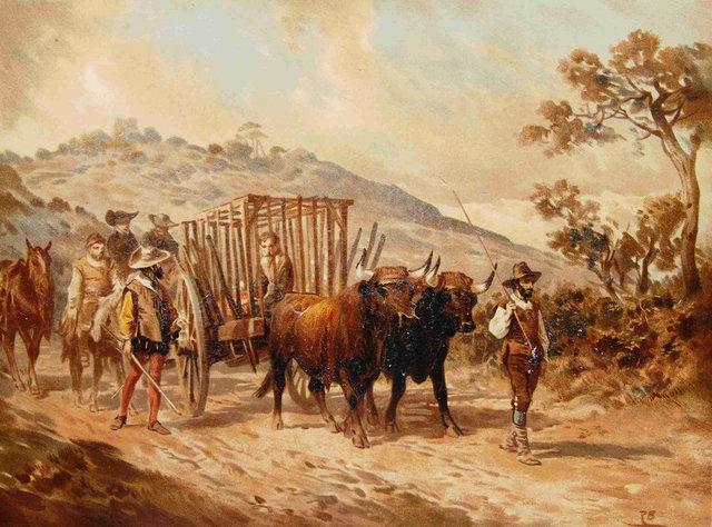 Trasladan a la fuerza a Don Quijote hasta su pueblo.