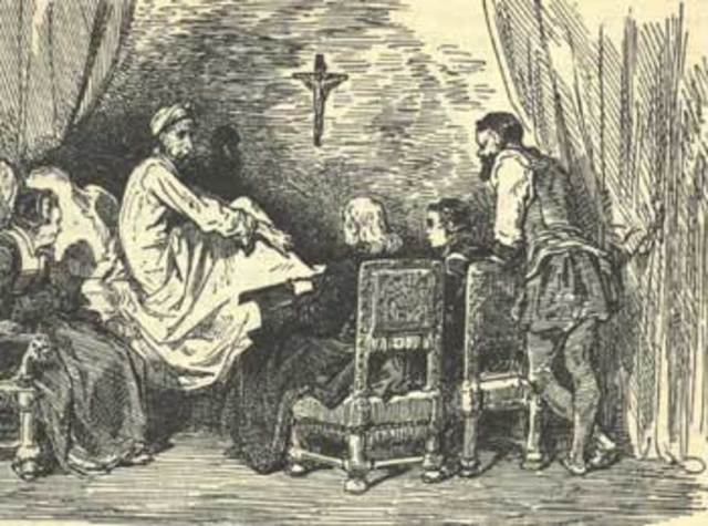 Anuncia Sancho un libro sobre las aventuras de Don Quijote.