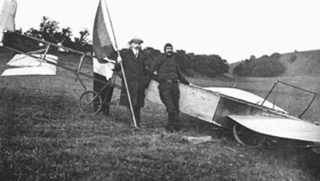 Bleriot crosses English Channel with an airplane for the first time