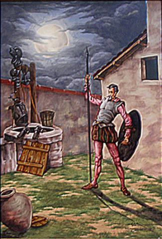 """Sancho abandona """"su"""" isla y decide partir en busca de Don Quijote."""