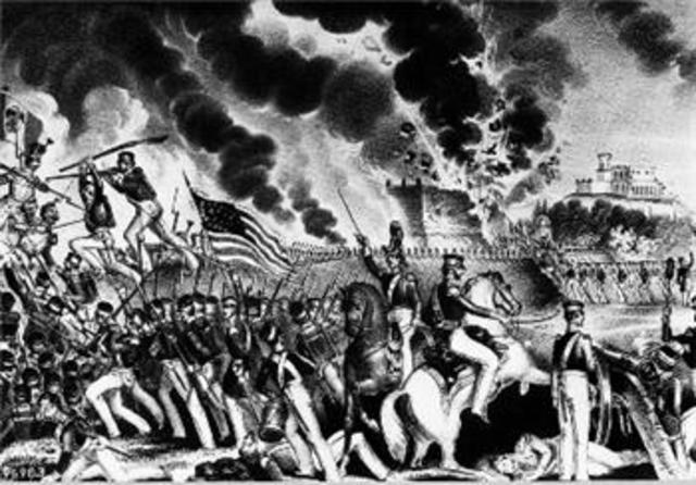United States wins Mexican-American War.