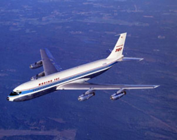 707 prototype takes off