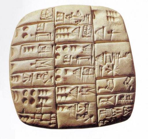 Mesopotamia. Escritura Cuneiforme