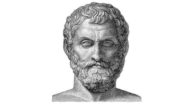 Tales de Mileto explica fenomenos naturales.