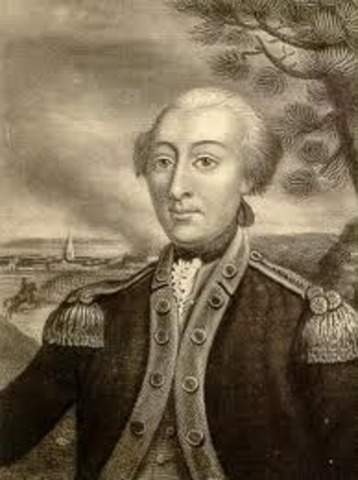 Marquis de Lafayette arrives in colonies