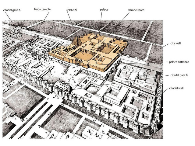 Palace of Sargon II 9715-705 BCE)