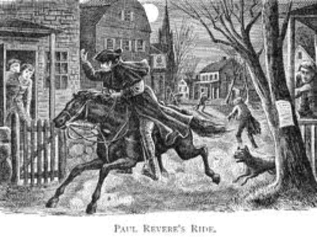 """Paul Revere & William Daws """"Midnight Ride"""""""