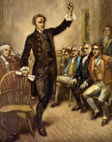 """Patrick Henry's """"Give me liberty or give me death"""" speech"""