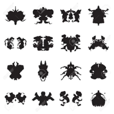 Prueba: Manchas de tinta de Rorschach.