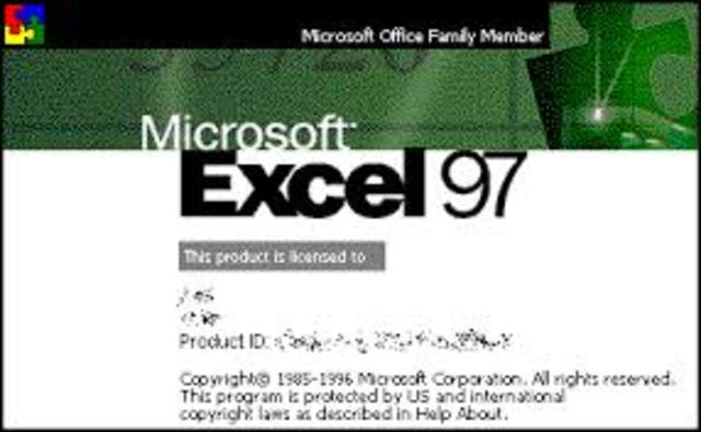 Microsoft Excel 8.0 - Office 97