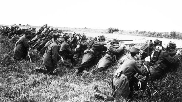 La primera guerra mundial.
