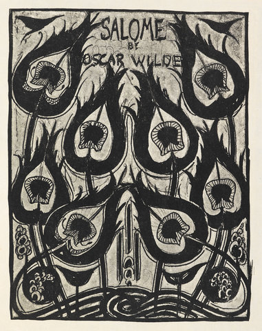 """Sketch for the Cover of """"Salome"""" by Oscar Wilde / AUBREY BEARDSLEY"""