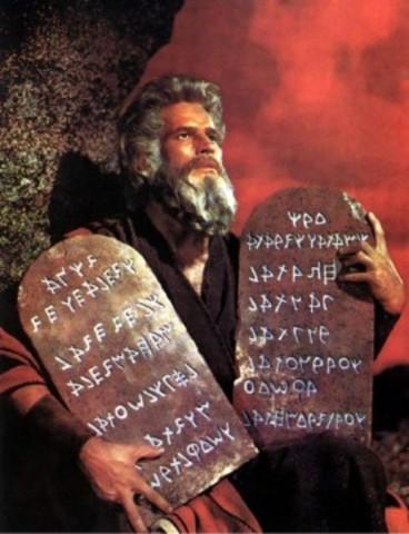 Moisés otorga los Diez Mandamientos al pueblo judío