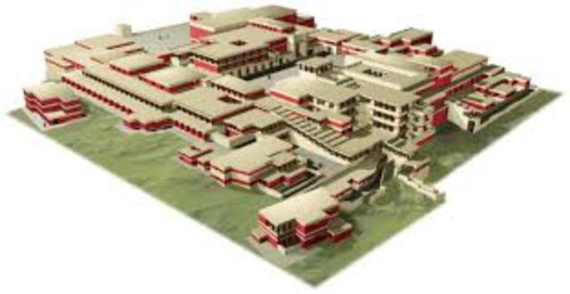 construcción del Palacio de Cnosos.