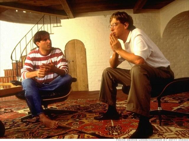 Steve Jobs y Bill Gates en la 4ta generacion
