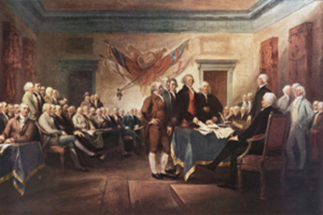 Decalaration of Independence Adopted