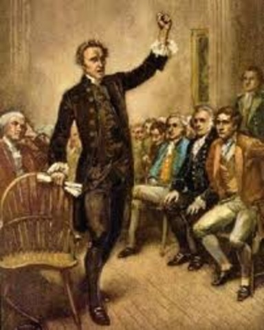 """Patrick Henry's """"Give me liberty , or give me death"""" speech"""