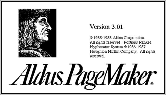 Lanzamiento de Aldus PageMaker