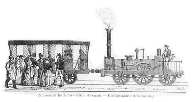 Première ligne de train voyageurs