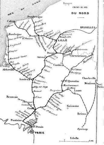 Réseau Nord en 1853