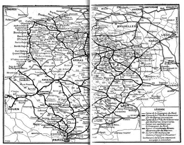 Réseau Nord en 1914