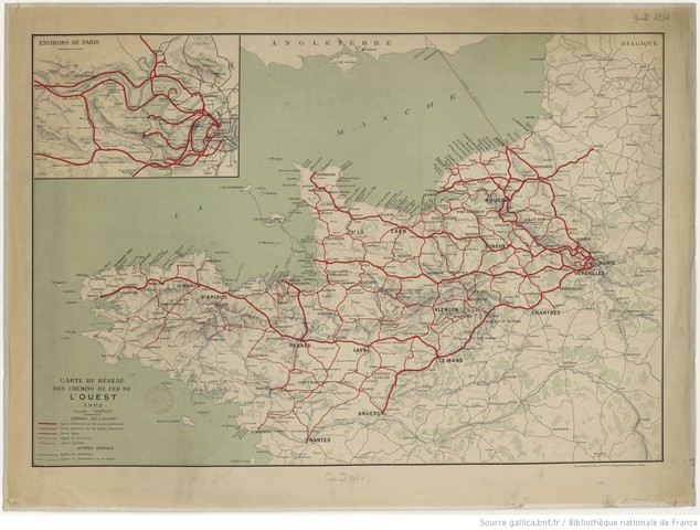 Réseau Ouest en 1902