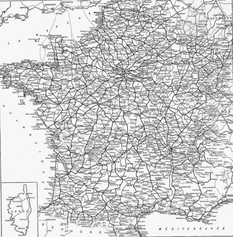 Etat du réseau en 1921