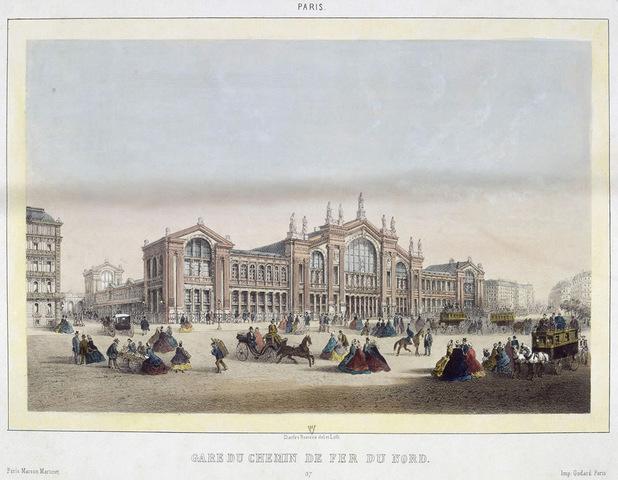 Construction de la Gare Du Nord actuelle