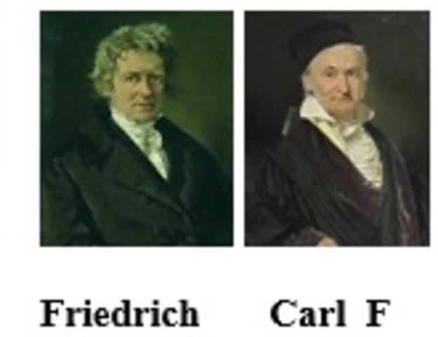 Friedrich W. Bessel (1784-1846) y Carl F. Gauss (1777-1855) pioneros