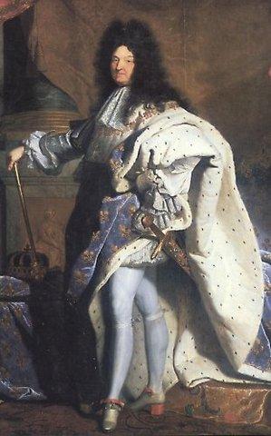 King Louis XIV declared king