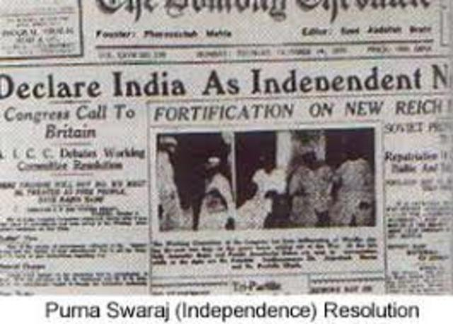 Declaration of Independence of India