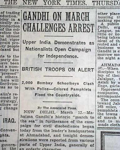 Gandhi arrested after Salt March