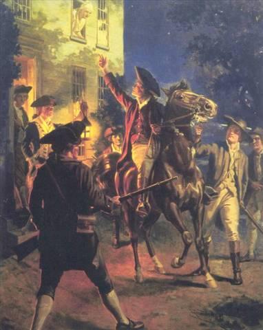 """Paul Revere & William Dawes """"Midnight ride"""""""