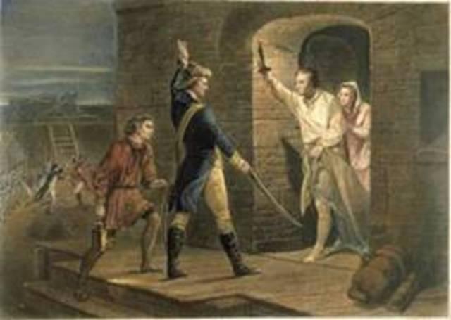 Fort ticonderoga Seized by ethan allen &green mountain boys