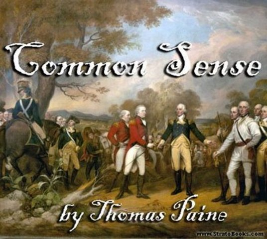 "Thomas Paine publishes ""Common Sense"""