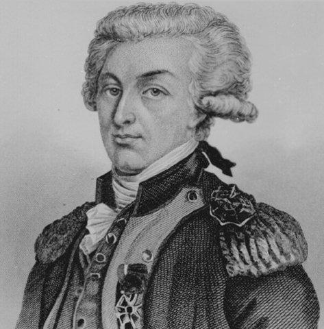 Marquis de Lafaeyette arrives in colonies