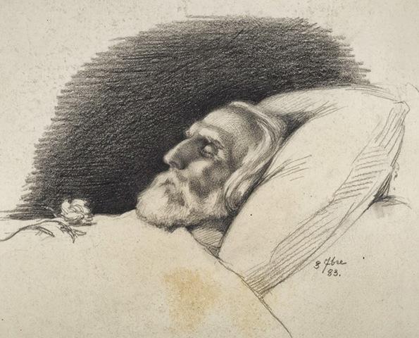 Писатель серьёзно заболел, он страдал от сильных болей.