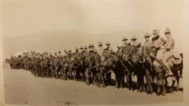 Pershing Attacked by Mexico