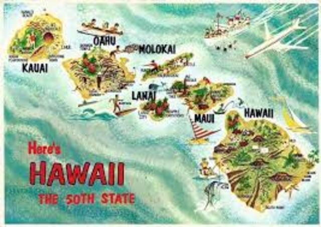 Hawaii added as 50th State